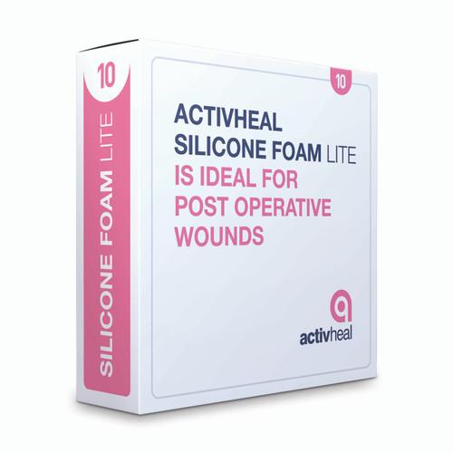 Activheal Silicon ADH Foam Lite Border 7.5 X 7.5cm - 10pcs/Box