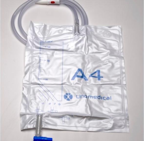 A4 Drain Bag Closed System 2000Ml Sterile 117Cm Tube T Tap 381551S _ 50pcs