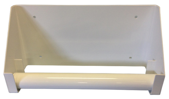 Wall mounting for disposable Towel Roll,  White 24.5cm wide
