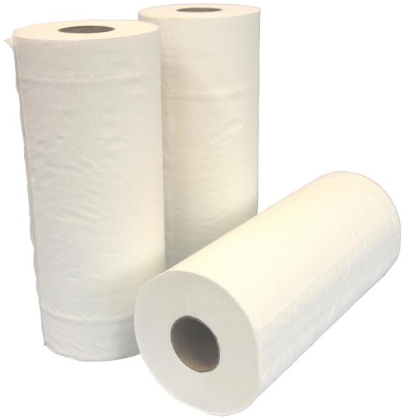 Towel Roll 24.5cm x 50M Versatile Perforated  White embossed 12 Rolls