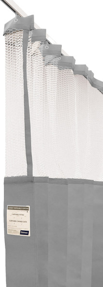 Disposable Curtain 4.5m x 2.3m - Mesh. Antimicrobial and fire retardant. 120 gsm. Length 4.5m, Drop 2.3m  - Grey - Box/8