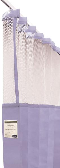Disposable Curtain 7.5m x 2.3m - Mesh. Antimicrobial and fire retardant. 120 gsm. Length 7.5m, Drop 2.3m  - Lilac - Box/5