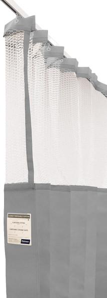 Disposable Curtain 7.5m x 2.3m - Mesh. Antimicrobial and fire retardant. 120 gsm. Length 7.5m, Drop 2.3m  - Grey - Box/5