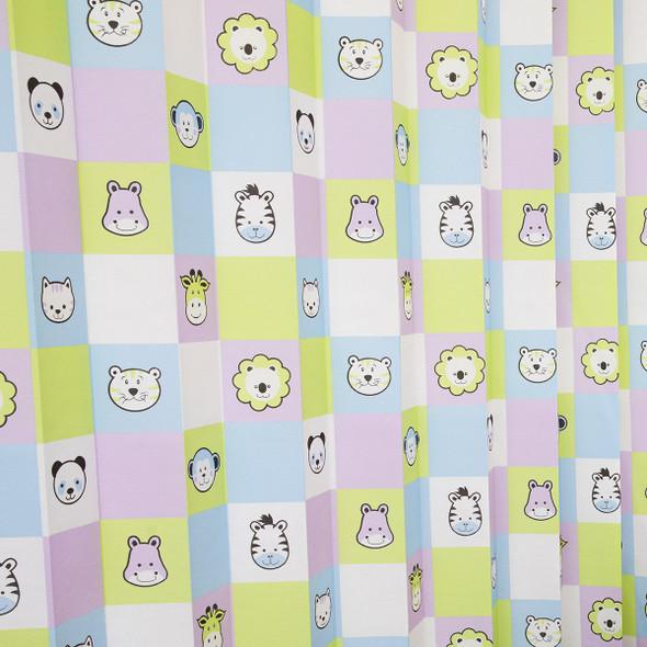 Disposable Curtain 2.5m x 2m. Antimicrobial and fire retardant. 120 gsm. Paediatric - Safari Print Length 2.5m, Drop 2.0m  - Safari - Box/15