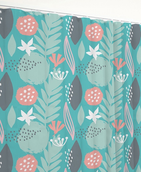 Disposable Curtain 4.5m x 2m. Antimicrobial and fire retardant. 120 gsm. Spring Mood Print Length 4.5m, Drop 2.0m  - Spring Mood - Box/8