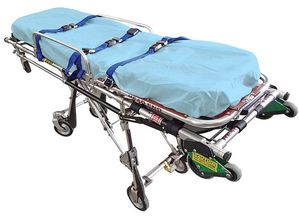 Disposable Stretcher Cover / Examination Fitted Sheet - elastic sewn all around.  DPP 40gsm. 187cm x 70cm x 10cm deep  - White - Box/100