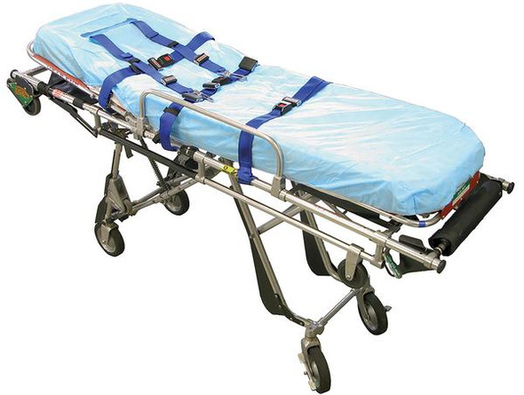 Disposable Stretcher Cover Fitted Sheet with Cutout - elastic Sewn all around.   PP 40gsm. 187cm x 70cm x 10cm deep  - White - Box/100