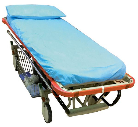 Disposable Emergency Trolley Fitted Sheet - elastic sewn all around.    PP 40gsm. 195cm x 80cm x 16cm deep  - White - Box/100
