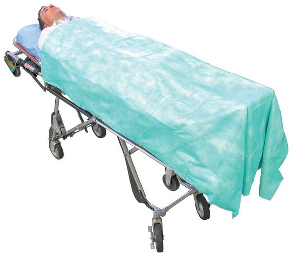 Disposable Blanket - 9 Ply 190cm x 110cm  - Marble Green - Box/50