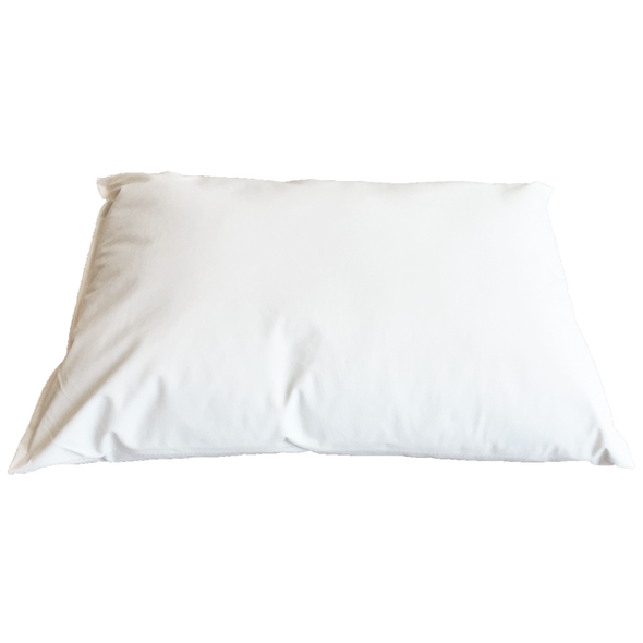 Wipeclean Stitched Seams Pillow - Half Size. Bacteria Resistant, Fire Retardant, Waterproof Cover 33cm x 45cm  - White - Each