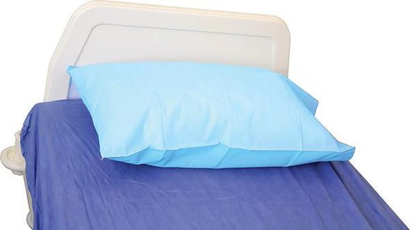 Disposable Pillow Case with Flap. PP  40gsm. 75cm x 50cm  - Light Blue - Box/200