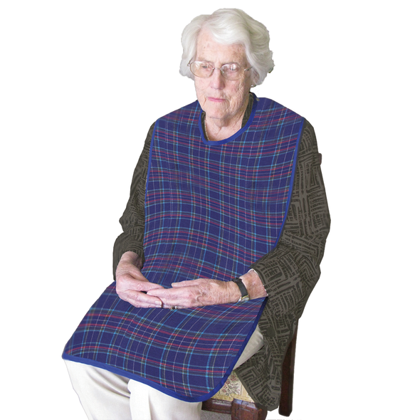 Smart Barrier Clothing Protector with waterproof backing 90cm x 45cm  - Blue Tartan - Each