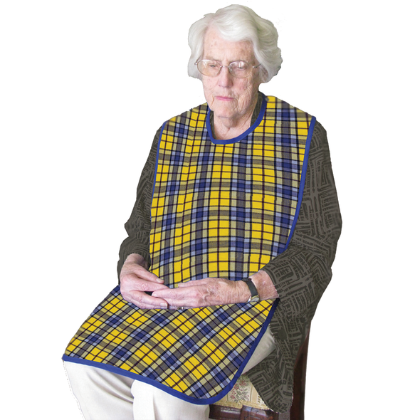 Smart Barrier Clothing Protector with waterproof backing 90cm x 45cm  - Yellow Plaid - Each