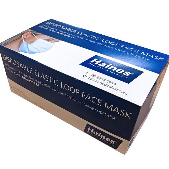 Elastic Loop Face Mask  Level 3  - Light Blue - 1000pcs/ctn (20 inner boxes of 50 masks)