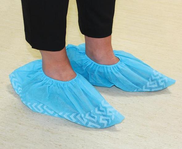 Disposable Non-slip Shoe Cover - PP 36gsm 16cm x 40cm   - Blue - Box/1000