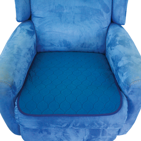 Smart Barrier Chair Pad with waterproof backing.  1 Litre Absorbency 50cm x 60cm  - Navy - Each