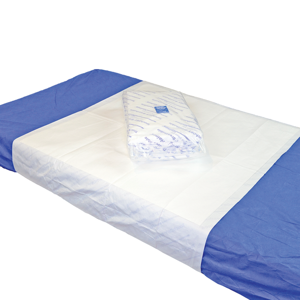 TouchDRY Absorbent Pad with Wings 190cm x 90cm  - White - Box/60