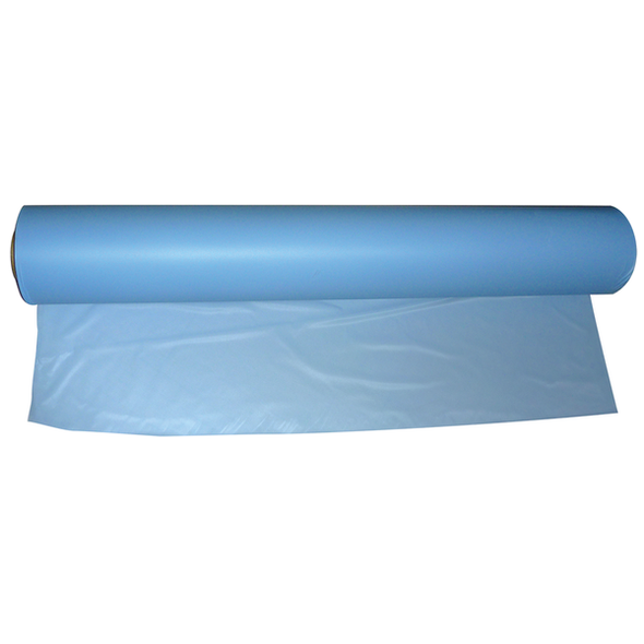 Haines Lightweight Sheeting Roll.  Thickness 0.08mm 106cm wide x 100m long  - Light Blue - Roll