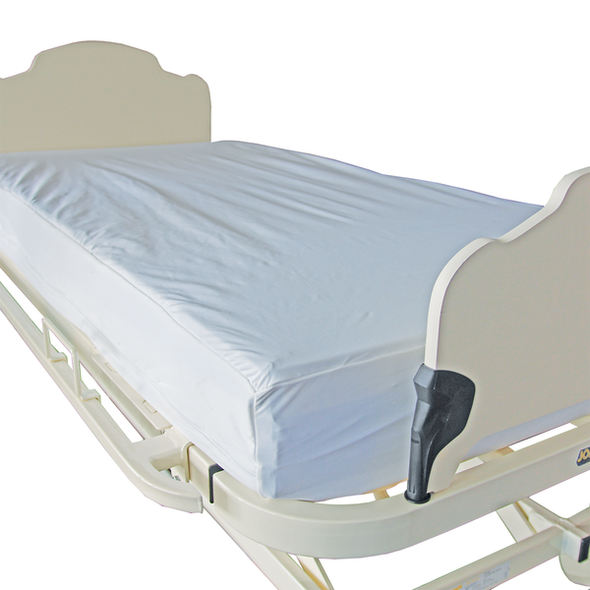 Smart Barrier Fully Enclosed Mattress Cover with zip.  Single Bed.  Mattress height 24cm - 30cm 190cm x 91cm x 27cm  - White - Each
