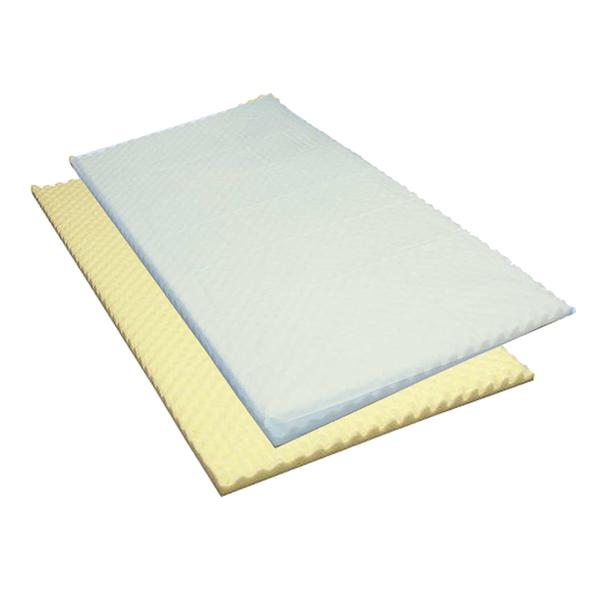 Cover for Foam Mattress Overlay in Lightweight PVC with Zip 198cm x 102cm  - Light Blue - Each