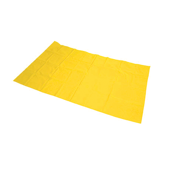 SlipperySally Single Patient Use Slide Sheet - Pre-Packaged in PE Bag with drawstring 2.0m x 1.45m  - Yellow - Box/50
