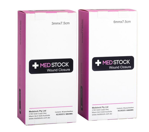 Medstock Wound Closure Strip - one box - sizes: 3mm / 6mm