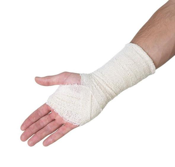 Medstock 100% Cotton Light Crepe Bandage W/Elastic Clips 5cm/7.5cm/10cm x 1.6m Unstretched (Approx 4m Stretched)