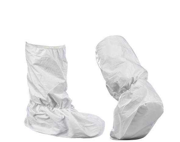 Disposable Non Woven  WATERPROOF WHITE Boot Covers, Pkt of 5
