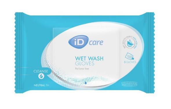Id Care Wet Wash Gloves No Perfume 500Ml 55220080 _ 24Pkts