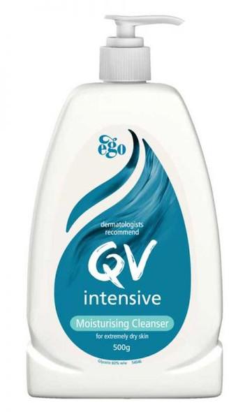 Qv Intensive Moisturising Cleanser 500G Pump Pack 10179 _ 12Pcs