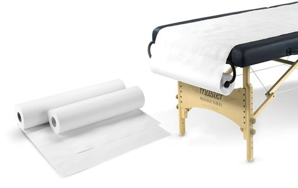 6 ROLLS, Bed Cover Roll Sheet Medical Table Cover 59 cm x 100 M, White , 2ply Paper