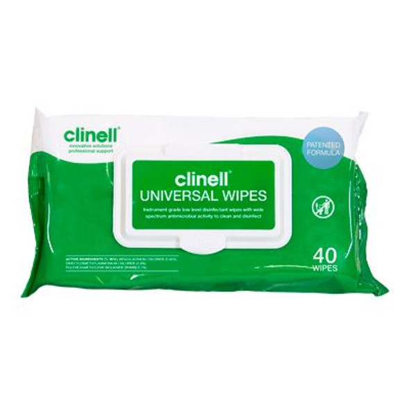 Clinell Universal Sanitising Wipes (Pkt X 40) Cw40 _ 24Pkts