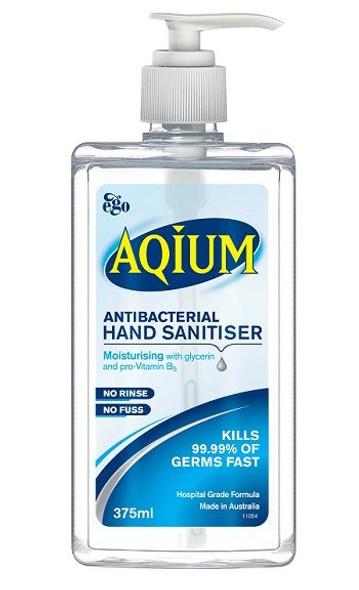 Aqium Antibacterial Hand Gel 375Ml 11575 _ 12Pcs