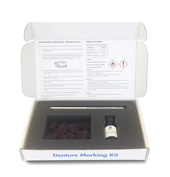 IDentoz Denture Marking Kit, Sufficient to label up to 60 de