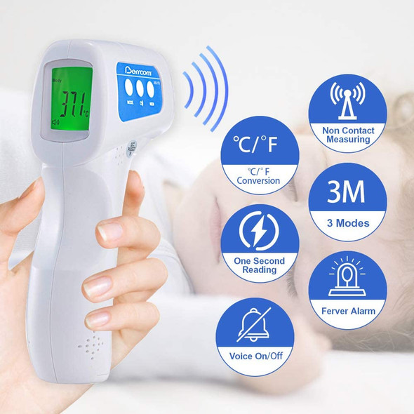 Forehead Clinical Thermometer, Non Contact, Highly Accurate and Sensitive Infrared Sensor, Batteries Included, TGA  registered