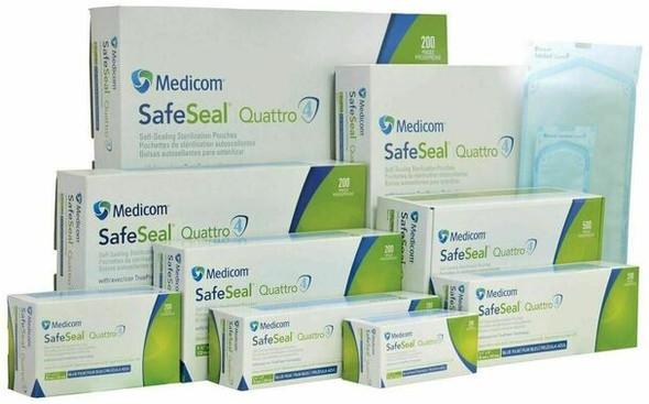 Medicom SafeSeal Quattro Sterilization Pouches with TruePres