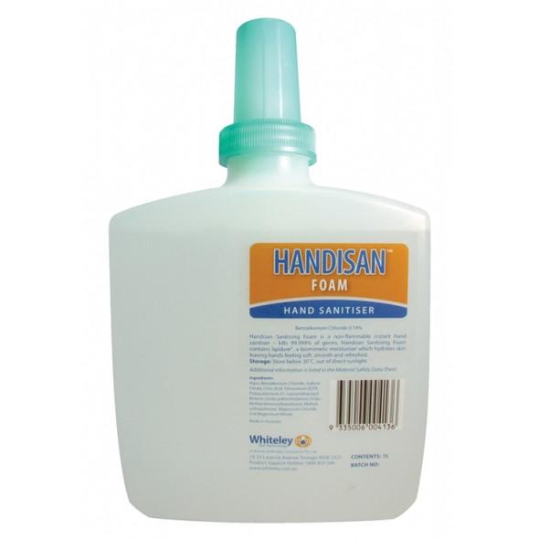 Whitely Handisan Foam 1 Litre Hand Sanitiser - Each