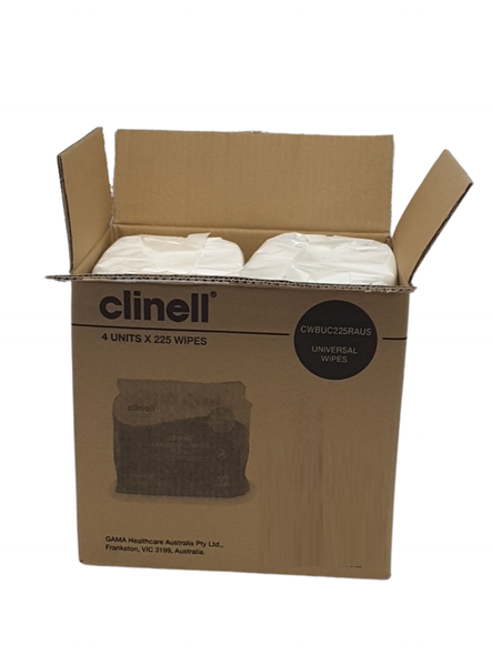 Clinell Universal Wipes Bucket Refill 225/pack - CWBUC225RAUS - 4packs/ctn