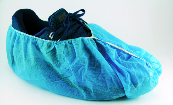 Anti Skid Lab Safety Disposable Protective Non Slip Overshoes  Shoes Covers Non-Skid Non-Slip PolyproPylene PP, pkt of 100 pcs