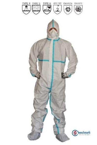 White Spray Painting Overalls DPECB4 TYPE 4 MICROPOROUS COVERALLS, 25 PCS