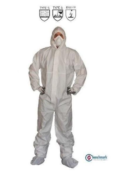 White Spray Painting Overalls DPECBTYPE MICROPOROUS COVERALLS, 25 Pcs