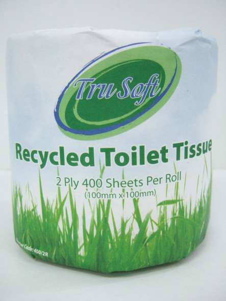 REGAL TRU SOFT TOILET ROLL RECYCLED 400 SHEETS PKT X 48