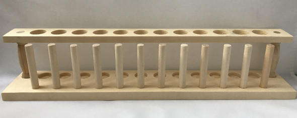 Wooden Test Tube Storage Rack 12 Holes with 12 Pegs O.D  22m