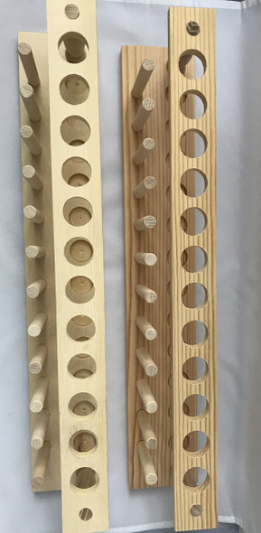 Wooden Test Tube Storage Rack 12 Holes with 12 Pegs O.D  22mm