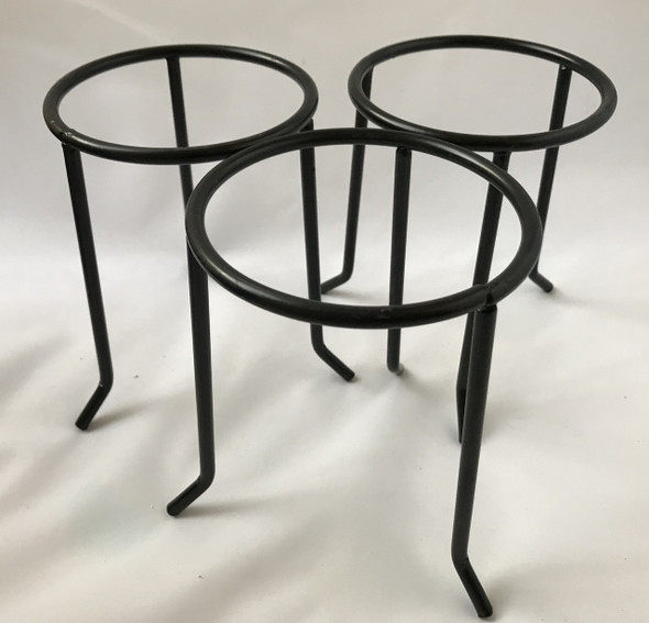 3pcs Laboratory Circular Tripod Stands , 120mm Sides, 200mm High, Metal, Non Flammable Paint