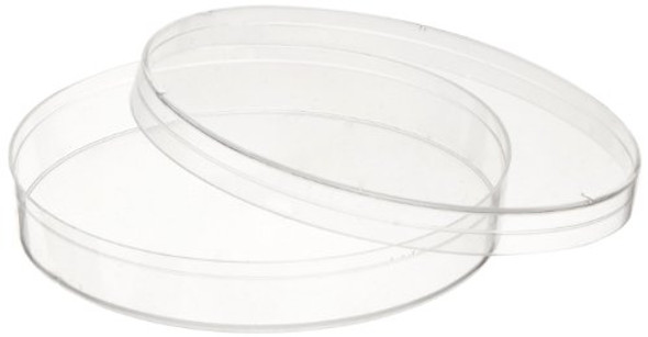 Plastic Petri dishes with lid 90*15mm, Polystyrene 20 Pcs/Pa