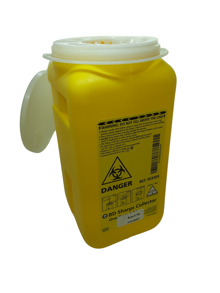 Sharps Container Bin 1.4 L Disposal Needle Syringe Hypodermic Waste