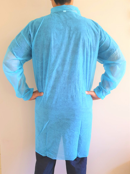 Disposable Lab Coat, Medical Dental Laboratory Veterinary, BLUE  100 pc/pkt