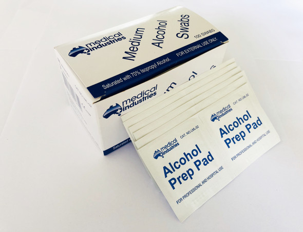 Alcohol pads 70% Isopropyl Alcohol, 65 x 30mm, Skin Swab, pk