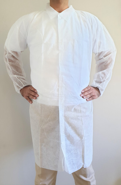 Disposable Lab coat, Medical Dental Laboratory Veterinary Is